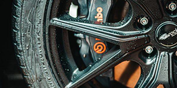 black multi spoke auto wheel